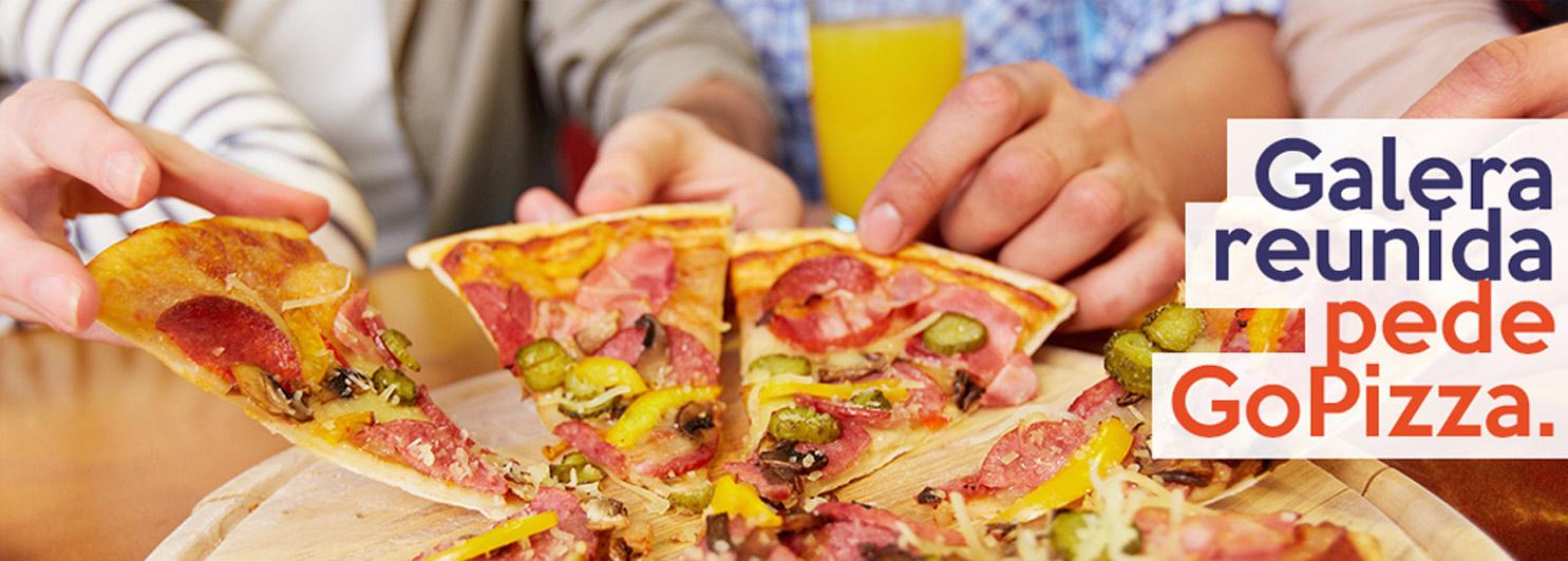 Galera Reunida pede Go Pizza